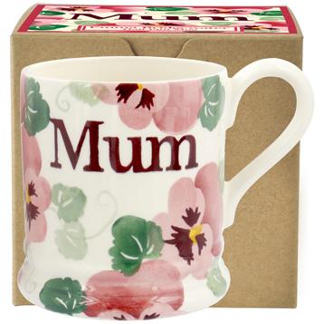 Pink Pansy Mum ½ Pint Mug