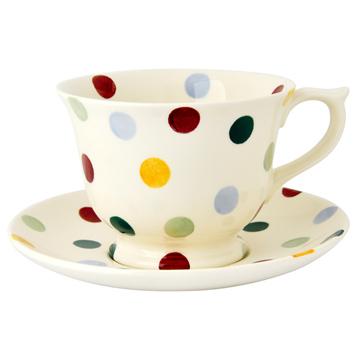Large Teacup & Saucer Set