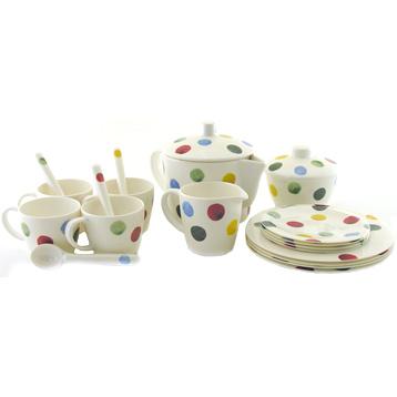 Polka Dot Melamine Children's Tea Set