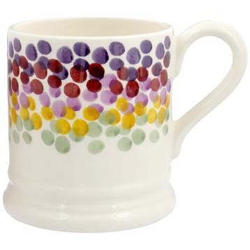 Rainbow Dots ½ Pint Mug