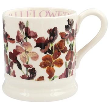 Red Wallflowers ½ Pint Mug