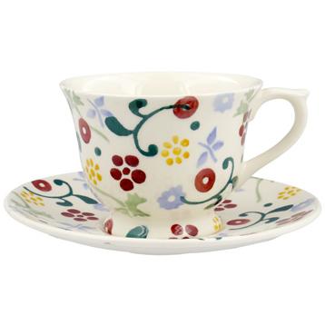 Spring Floral Small Teacup & Saucer