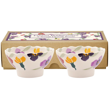 Set of 2 Small Fluted Bowls