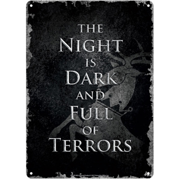 The Night is Dark Small Tin Sign