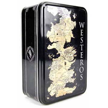 Westeros Map Rectangular Metal Storage Tin