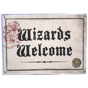 Wizards Welcome Small Tin Sign