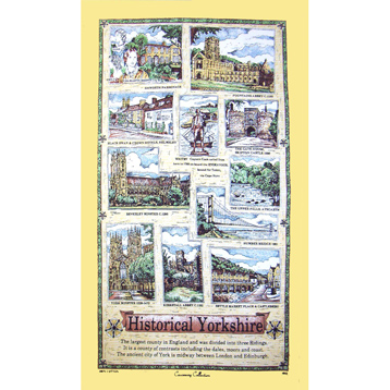 Historical Yorkshire Tea Towel