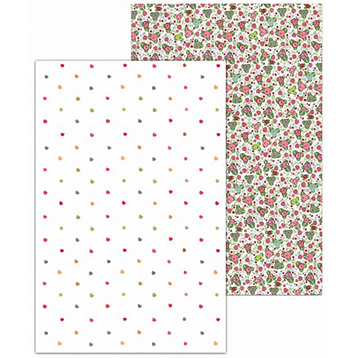 Strawberry Fayre Two Cotton Tea Towels