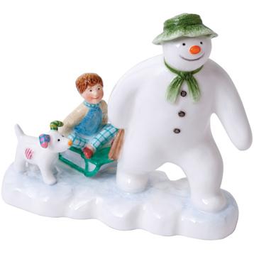 John Beswick The Snowman Snowdog & Billy Earthenware Figurine