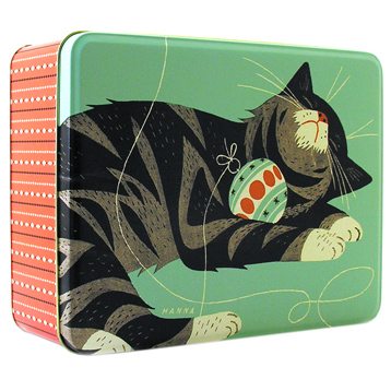 John Hanna Deep Rectangular Cat Tin