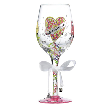 Just Married Wedding Wine Glass