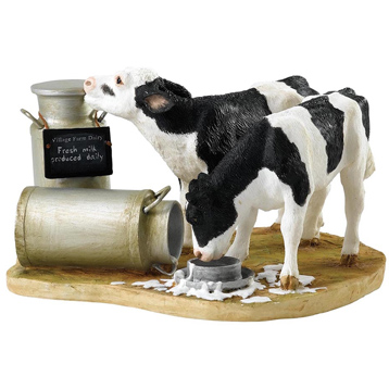Double Trouble at The Dairy Figurine