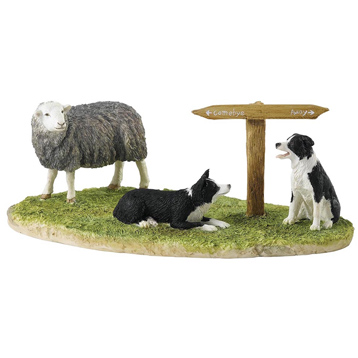 Ewe Take The Left (Herdwick) Figurine