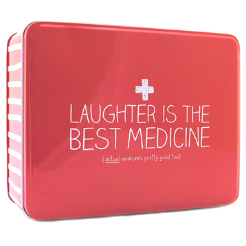'Laughter is the Best Medicine' Rectangular Storage Tin