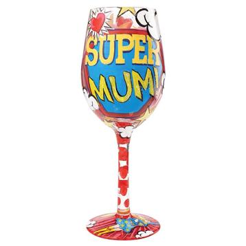 Super Mum Wine Glass