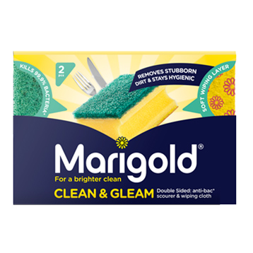 Marigold Clean & Gleam Scourer & Wiping Cloth (2 Pieces)