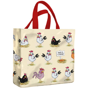 McCaw Allan Chickens PVC Mini Gusset Bag