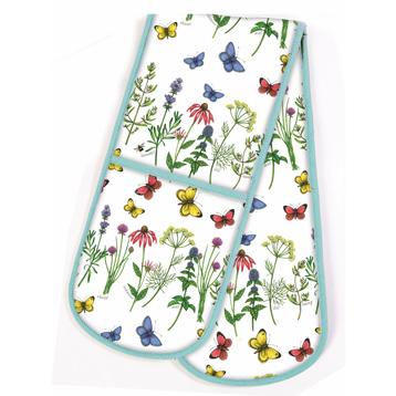 Herbs & Butterflies Double Ovenglove