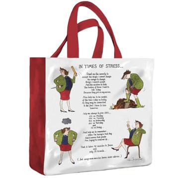 In Times Of Stress PVC Mini Gusset bag