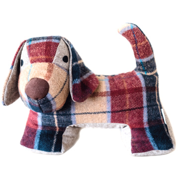 Tweed Dog Shaped Door Stopper