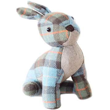 Tweed Rabbit Shaped Door Stopper