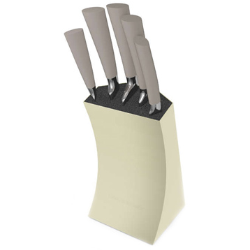 Accents Stainless Steel 5 Piece Knife Block with Knives