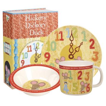 Hickory Dickory Dock 3 Piece Melamine Set