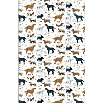 Samuel Lamont Dog Breeds Cotton Tea Towel