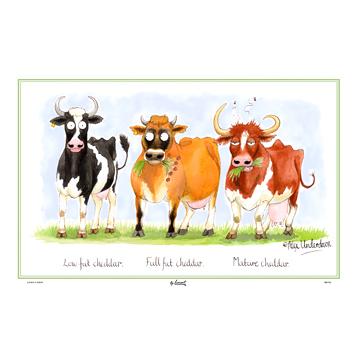 Samuel Lamont Cheddar Cows Linen Union Tea Towel
