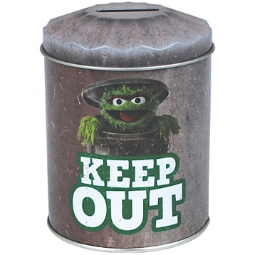 Sesame Street Grouch Dustbin Money Tin