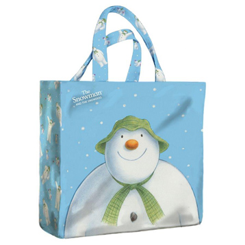 Snowman PVC Medium Gusset Bag