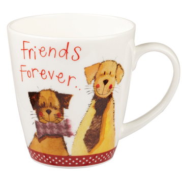 Friends Forever Sparkle Cherry Mug 360ml