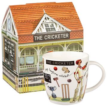 The Cricketer Squash Mug 400ml in Gift Box
