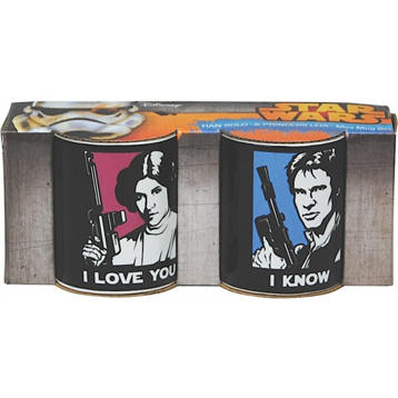 Han Solo & Princess Leia Mini Mug Set 110ml (Boxed)