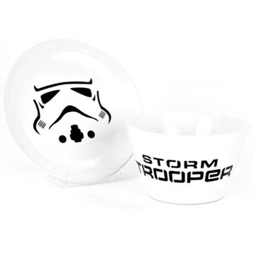 Stormtrooper Ceramic Bowl & Plate Set (BOXED)