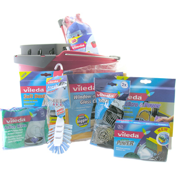 Supermocio Compact Mop, Bucket & Cleaning Kit 9 Piece BUNDLE